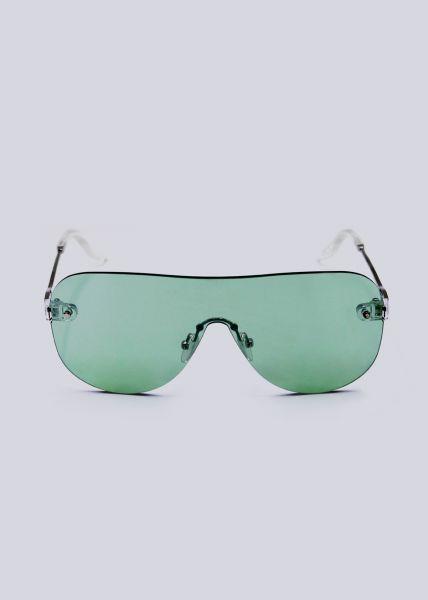 Rahmenlose Sonnenbrille, grün