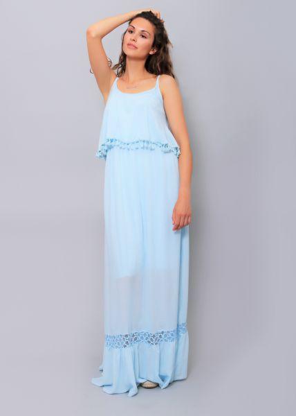 Extra langes Maxi-Kleid, hellblau