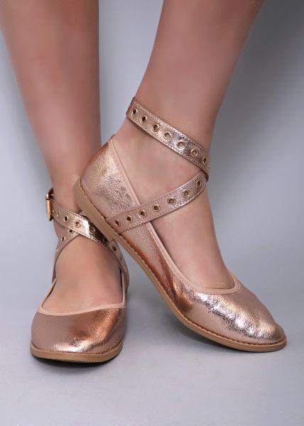 Ballerinas, metallic roségold