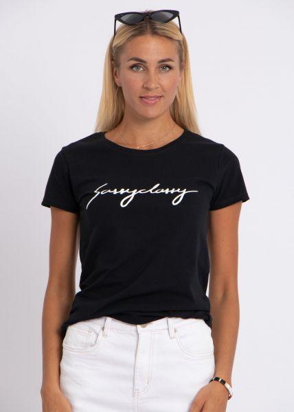 """T-Shirt """"sassyclassy"""", schwarz"""