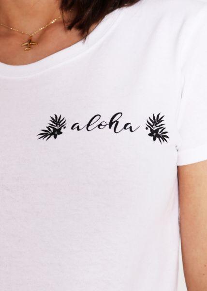 """T-Shirt """"aloha"""", weiß"""