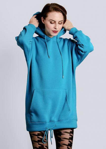 Langer Hoodie, blau