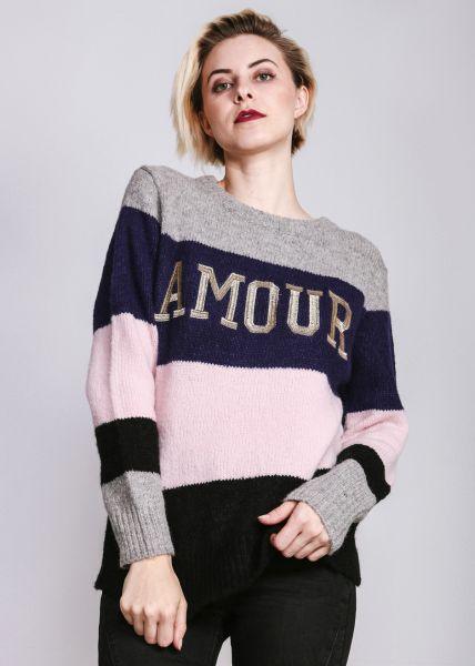 """Streifen-Pullover """"AMOUR"""""""