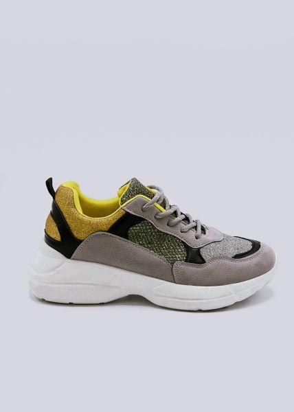 Plateau-Sneaker, grau