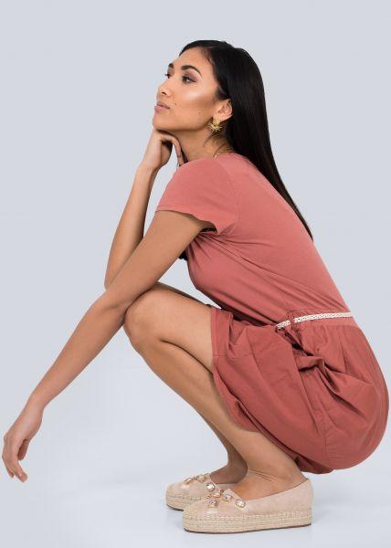 Kleid mit Tulpenrock, terracotta