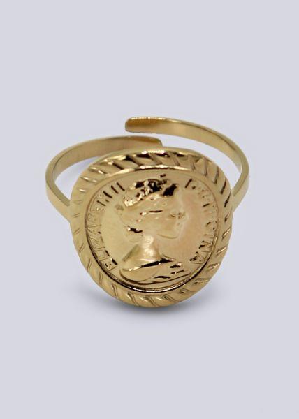 Ring mit Münze, gold