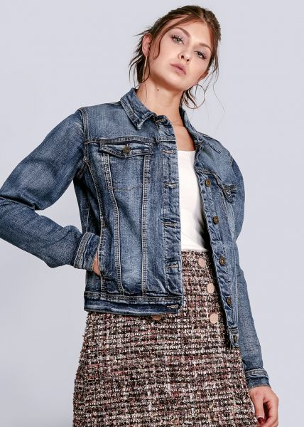 Jeans-Jacke mit Stretch, blau
