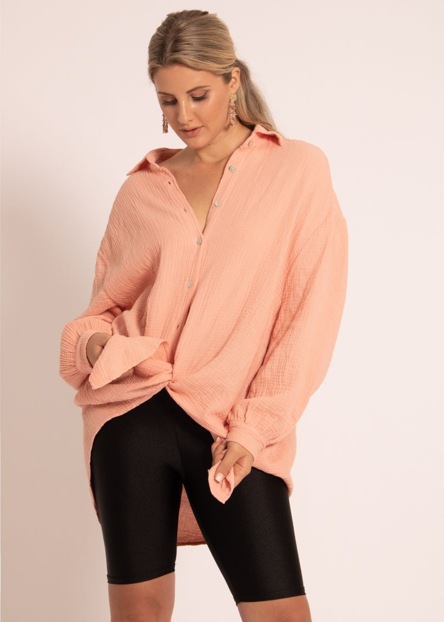 Ultra oversize Blusenhemd, salmon