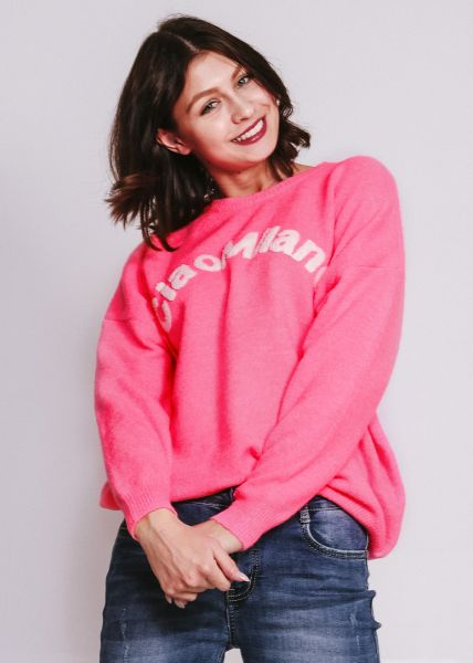 """Pullover """"CIAO MILANO"""", pink"""