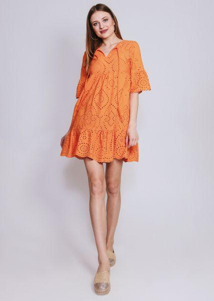 Hängerchenkleid aus Spitze, orange