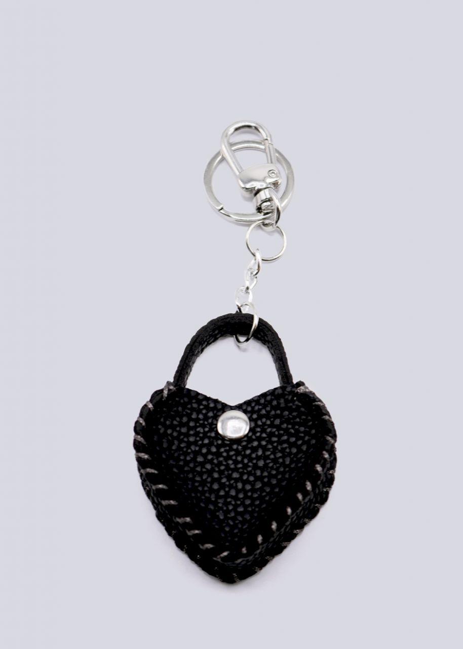 Taschenanhänger Herz, schwarz