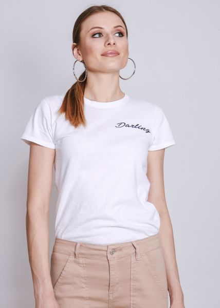 "T-Shirt ""Darling"", weiß"