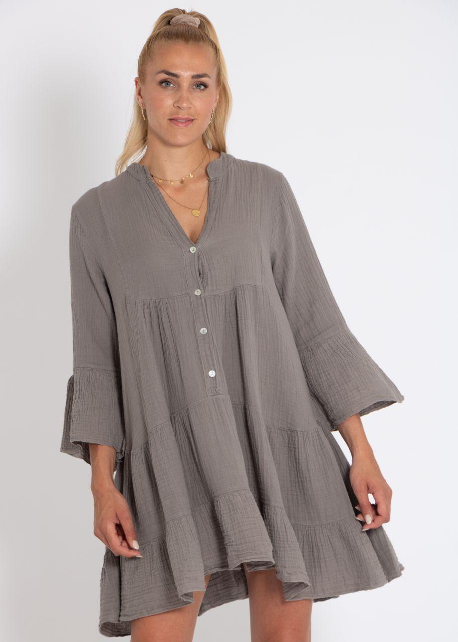 Musselin-Kleid, taupe