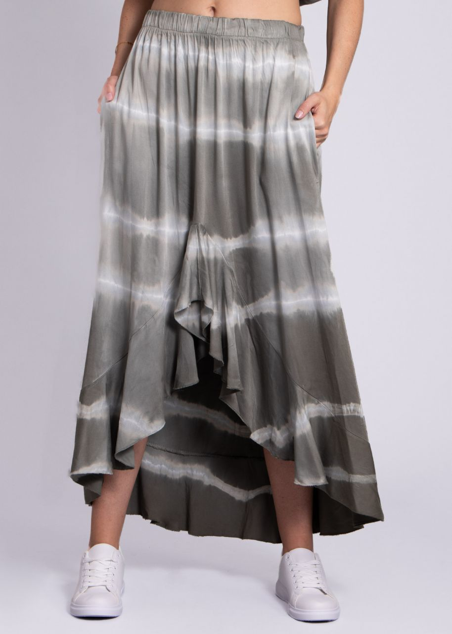 Maxi-Rock mit Batik-Print, khaki