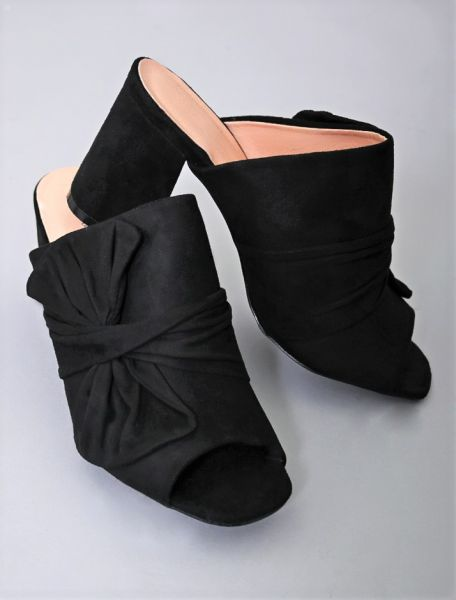 Pantoletten, schwarz