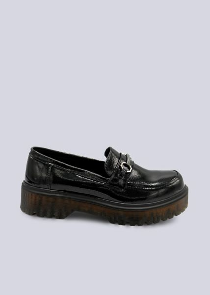 Loafer mit Plateau, schwarz