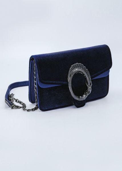 Samt-Tasche, blau