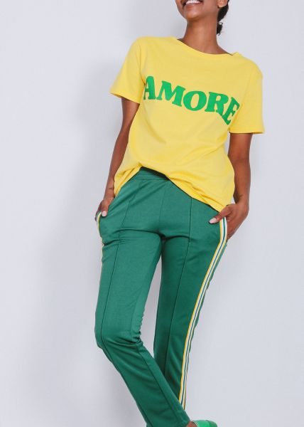 "Oversize T-Shirt ""AMORE"", gelb"