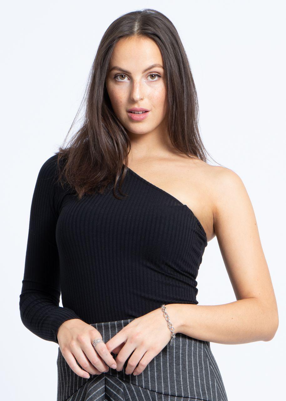 Asymmetrisches Shirt, schwarz