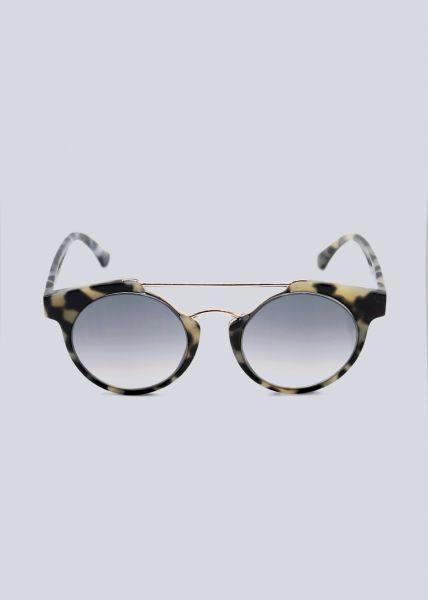Sonnenbrille mit goldenem Steg, Leo grau