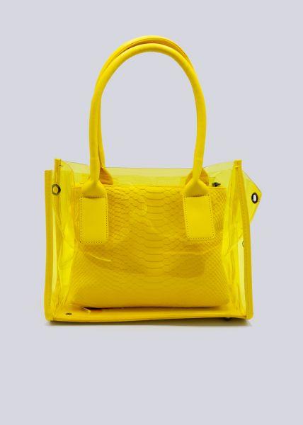 Henkeltasche mit Durchblick, gelb