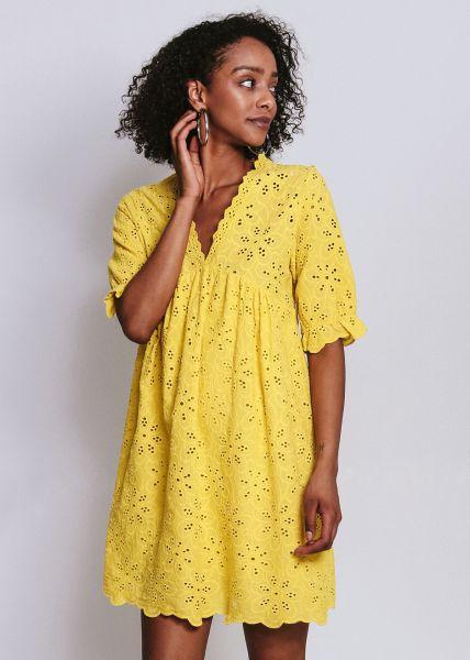 Kleid aus Spitze, gelb