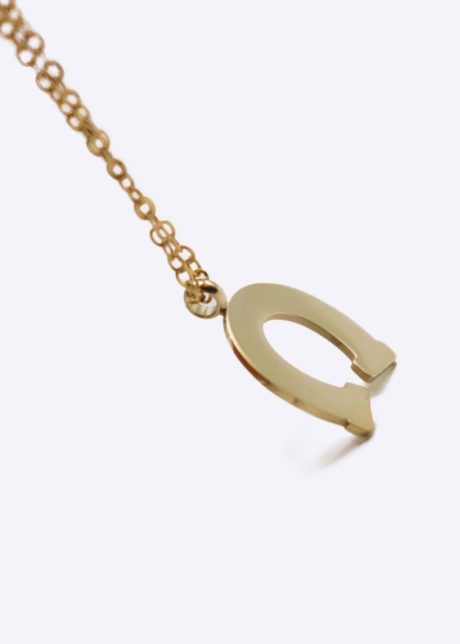 Halskette mit Hufeisen, gold