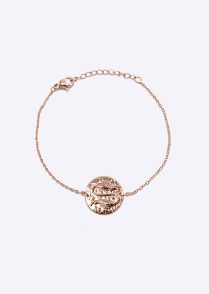 Armkette mit Sternzeichen Fisch, roségold