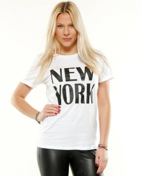 NEW YORK T Shirt, weiß
