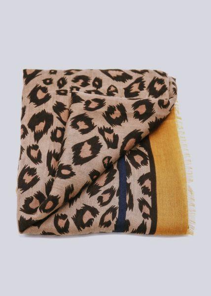 Leo-Schal mit Bordüre