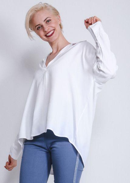Oversize Bluse, weiß