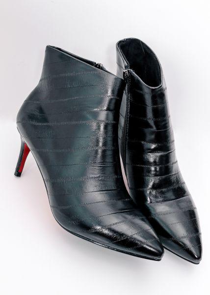 Stilettos aus Leder, schwarz