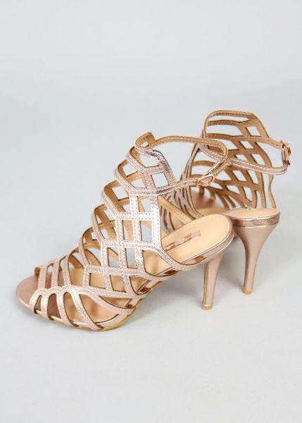 High Heels Sandalette, rosegold