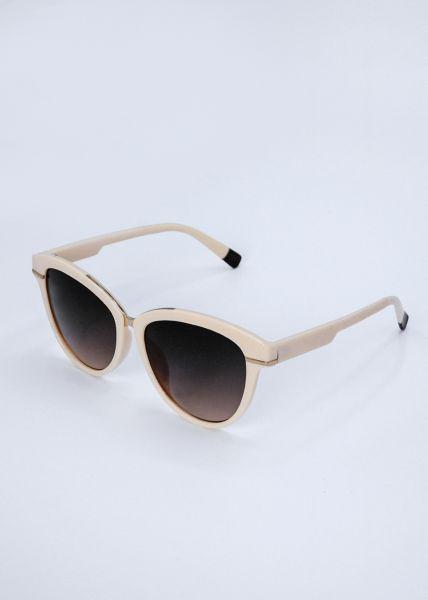 Sonnenbrille, beige