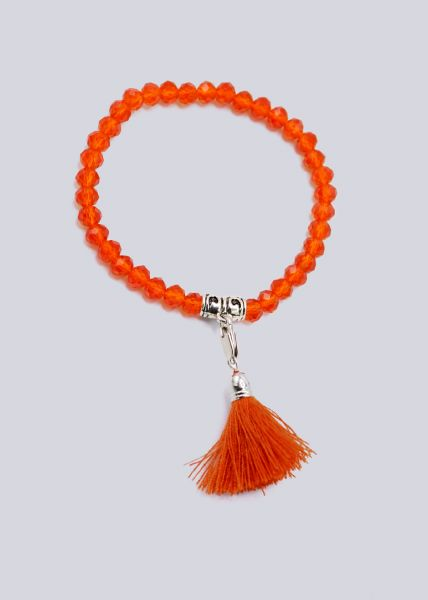 Perlenarmband, orange