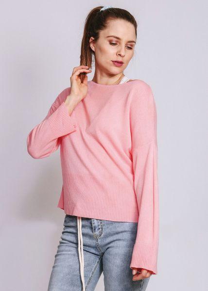 Pullover mit hohem Bund, rosa