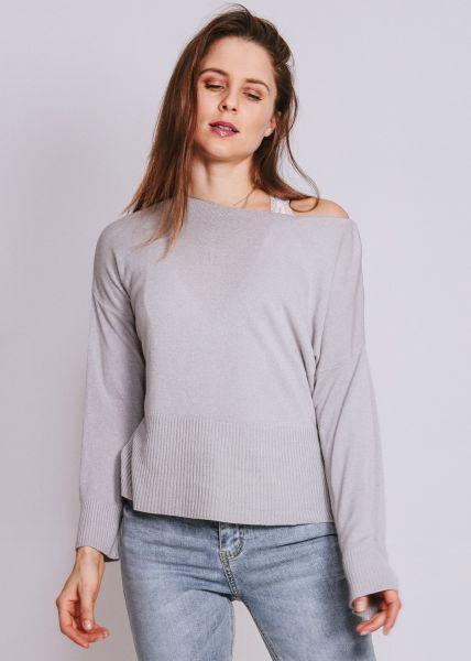Pullover mit hohem Bund, grau