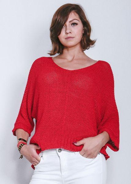 Lässiger Pullover, rot