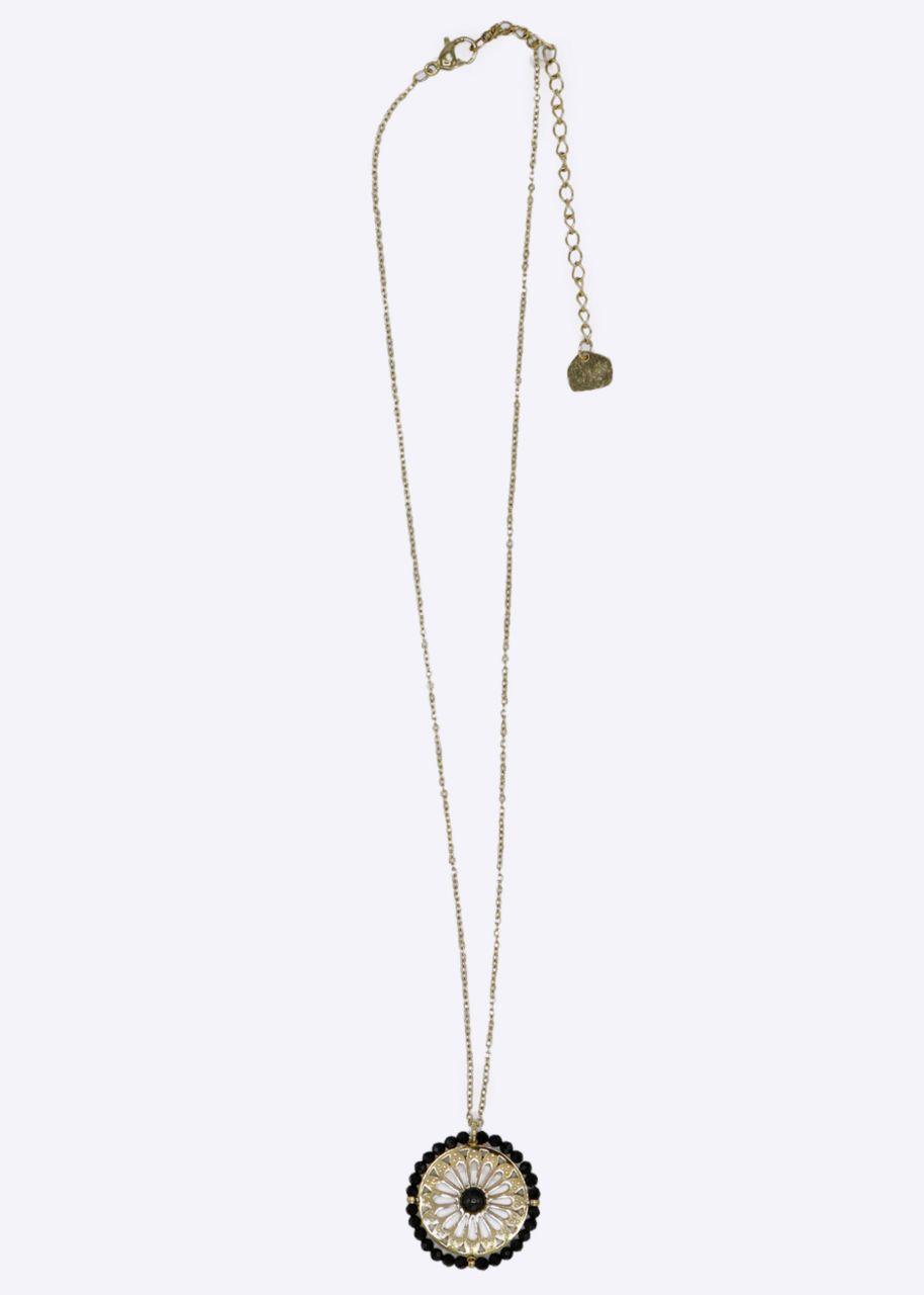 Halskette mit Schmuckanhänger, gold