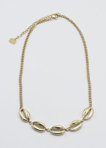 Muschelkette, gold