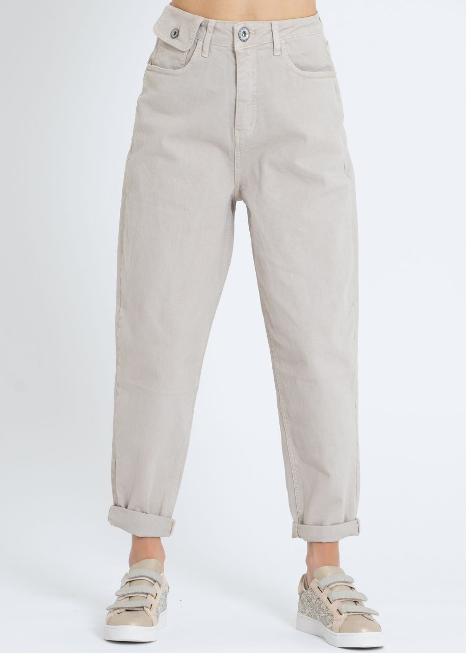 Highwaist Jeans, beige