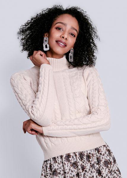 Crop-Pullover, beige