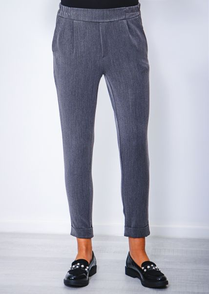 Knöchellange Business Hose, grau