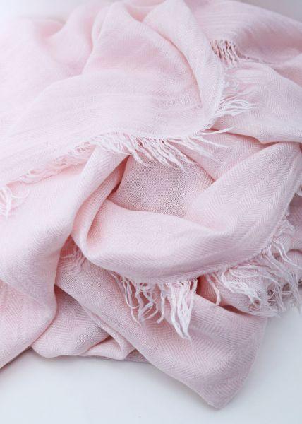 Hauchfeiner Schal, rosa