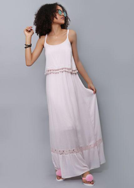 Extra langes Maxi-Kleid, rosa