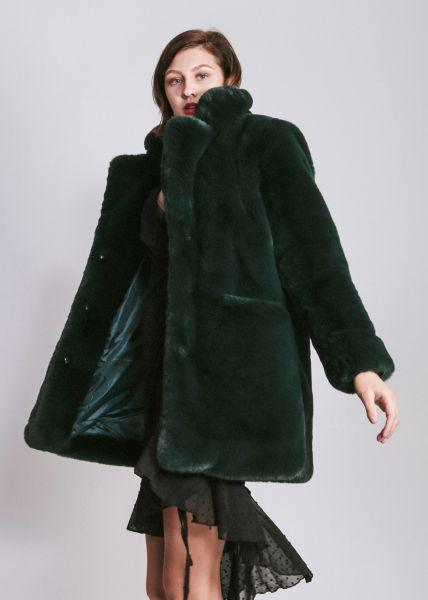 Fake Fur Jacke, grün
