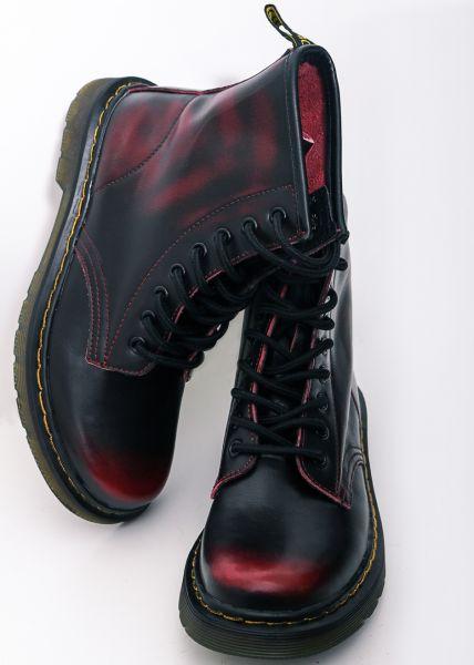 Leder-Boots, weinrot