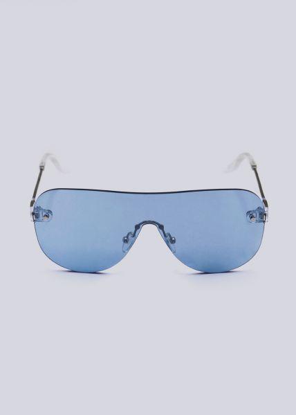 Rahmenlose Sonnenbrille, blau