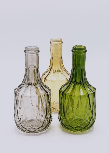 3er Set Flaschen-Vasen