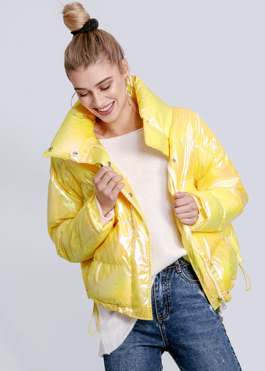 Puffer-Jacket, gelb